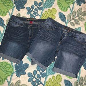 Two Arizona Jean Shorts - Size 13